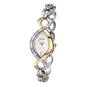 Sekonda Ladies' Two Tone Stone Set Bracelet Watch - Product number 1945939