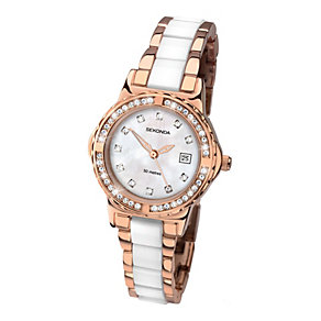 Sekonda Ladies' Two Tone Stone Set Watch - Product number 1946021