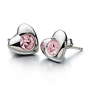 Chamilia Radiant Heart earrings with pink Swarovski® crystal - Product number 1946803