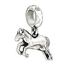 Chamilia horse bead with  clear Swarovski crystal elements - Product number 1947583