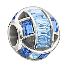 Chamilia Sterling Silver Blue Crystal Set Spellbound Bead - Product number 1947761