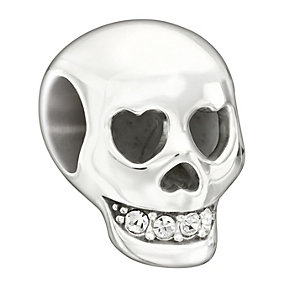 Chamilia Sterling Silver Crystal Skull Bead - Product number 1948024