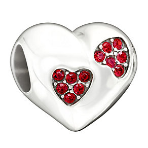 Chamilia Love Sparkles Red Swarovski Elements Heart Bead - Product number 1948075