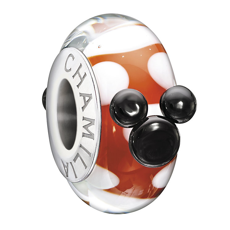 Chamilia Silver Murano Glass, 'Red, White & Minnie' Bead - Product number 1950568