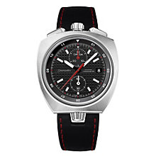 Omega Seamaster Bullhead men's black leather strap watch - Product number 1954504
