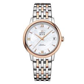 Omega De Ville Prestige ladies' two colour bracelet watch - Product number 1954539