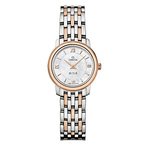 Omega De Ville Prestige ladies' two colour bracelet watch - Product number 1954547