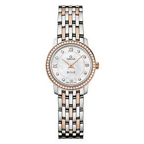 Omega De Ville Prestige ladies' two colour bracelet watch - Product number 1954555