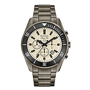 Bulova Marine Star Men's Gunmetal Ion-Plated Bracelet Watch - Product number 1954644