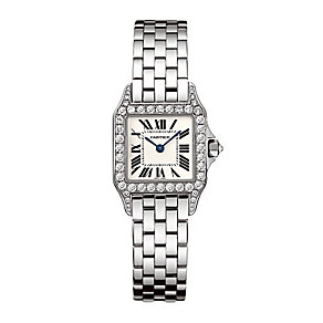 Cartier Santos ladies' 18ct white gold bracelet watch - Product number 1954660