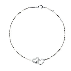 Tresor Paris 18ct white gold-plated double heart bracelet - Product number 1955683
