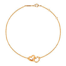 Tresor Paris 18ct rose gold-plated double heart bracelet - Product number 1955691