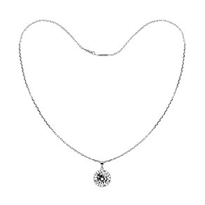 Tresor Paris white gold-plated cubic zirconia necklace - Product number 1955705