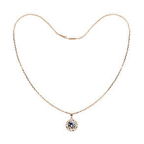 Tresor Paris 18ct rose gold-plated cubic zirconia necklace - Product number 1955713