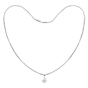 Tresor Paris Bella 18ct white gold-plated 8mm pendant - Product number 1955748