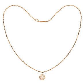 Tresor Paris Bella 18ct rose gold-plated 8mm pendant - Product number 1955756