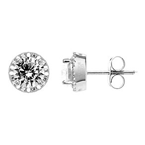 Tresor Paris 18ct white gold-plated cubic zirconia earrings - Product number 1955780