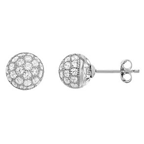 Tresor Paris Bella 18ct white gold-plated 8mm stud earrings - Product number 1955802