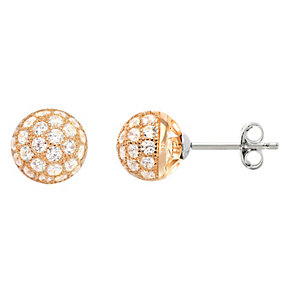 Tresor Paris Bella 18ct rose gold-plated 8mm stud earrings - Product number 1955810