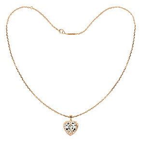 Tresor Paris 18ct rose gold-plated 10mm heart pendant - Product number 1955926