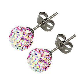 Tresor Paris Belle Rose titanium crystal 8mm stud earrings - Product number 1955942