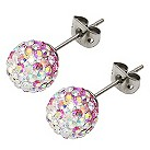 Tresor Paris Belle Rose titanium crystal 6mm stud earrings - Product number 1955950