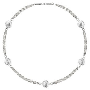 Tresor Paris Bella 18ct white gold-plated crystal bracelet - Product number 1955969