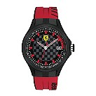 Ferrari men's chequered dial red rubber strap watch - Product number 1956078