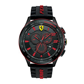 Ferrari men's chronograph black rubber strap watch - Product number 1956140