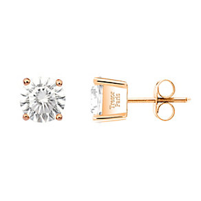 Tresor Paris 18ct rose gold-plated cubic zirconia earrings - Product number 1956159