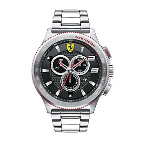 Ferrari men's chronograph stainless steel bracelet watch - Product number 1956175