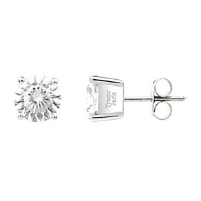 Tresor Paris 18ct white gold-plated cubic zirconia earrings - Product number 1956183