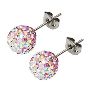 Tresor Paris Belle Rose titanium crystal 10mm stud earrings - Product number 1956191