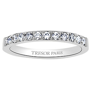 Tresor Paris 18ct white gold-plated 2.5mm ring size N - Product number 1956450