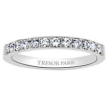 Tresor Paris 18ct white gold-plated 2.5mm ring size P - Product number 1956469