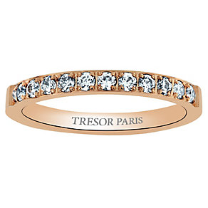 Tresor Paris 18ct rose gold-plated 2.5mm ring size N - Product number 1956485