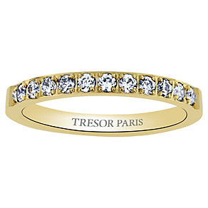 Tresor Paris 18ct gold-plated crystal set 2.5mm ring size P - Product number 1956507