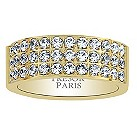 Tresor Paris 18ct gold-plated crystal set 8mm ring size L - Product number 1956566