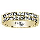 Tresor Paris 18ct gold-plated crystal 5mm ring size P - Product number 1956582