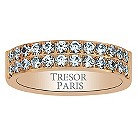 Tresor Paris 18ct rose gold-plated crystal 5mm ring size L - Product number 1956590