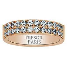 Tresor Paris 18ct rose gold-plated crystal 5mm ring size P - Product number 1956604