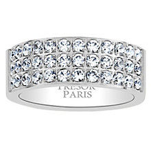 Tresor Paris 18ct white gold-plated crystal 8mm ring size L - Product number 1956612