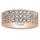 Tresor Paris 18ct rose gold-plated crystal 8mm ring size P - Product number 1956663