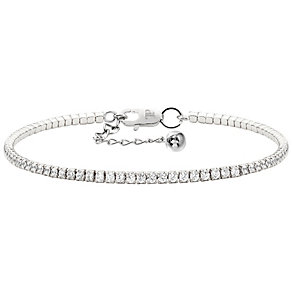 Tresor Paris 18ct white gold-plated crystal tennis bracelet - Product number 1956671