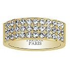 Tresor Paris 18ct gold-plated crystal set 8mm ring size N - Product number 1956736