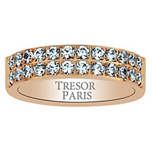 Tresor Paris 18ct rose gold-plated crystal 5mm ring size N - Product number 1956760