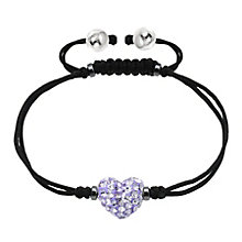 Tresor Paris lilac crystal 8mm heart black cord bracelet - Product number 1956779