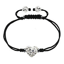 Tresor Paris white crystal 8mm heart black cord bracelet - Product number 1956787