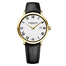 Raymond Weil Geneve men's black leather strap watch - Product number 1957716
