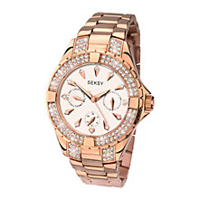 Seksy Ladies' Rose Gold Plated Swarovski Elements Watch - Product number 1957759